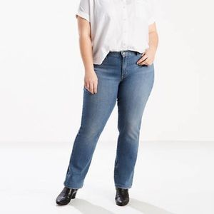 Levi's 414 Classic Straight Leg Jeans Denim Plus